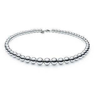 Silver Graduated Ball Necklace